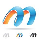 Icona astratta per la lettera m. illustrazione vettoriale
