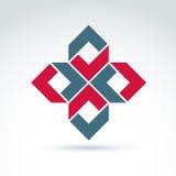 Icona astratta, simbolo astratto, elemento di progettazione grafica di vettore Fotografia Stock Libera da Diritti