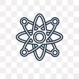 Icona atomica di vettore isolata su fondo trasparente, lineare a illustrazione vettoriale