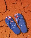 Icona australiana delle cinghie della bandierina fotografia stock