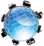 Icona automatica del globo Fotografie Stock
