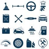 Icona automatica di riparazione e di servizio dell'automobile Immagine Stock Libera da Diritti