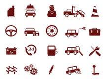 Icona automatica di servizio dell'automobile Fotografia Stock