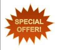 Icona/bastone di Web di offerta speciale Fotografia Stock