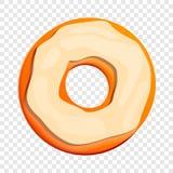 Icona bianca del biscotto della crema, stile del fumetto illustrazione vettoriale