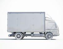 icona bianca del camion di consegna 3d Immagine Stock