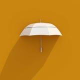 icona bianca dell'ombrello 3d Fotografie Stock