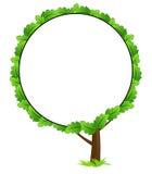 Icona in bianco del blocco per grafici dell'albero Fotografie Stock