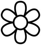 Icona in bianco e nero del fiore Illustrazione del profilo di vettore illustrazione di stock