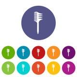 Icona bilaterale del pettine, stile semplice illustrazione di stock
