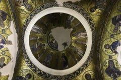 Icona bizantino del mosaico in Nea Moni, nuovo monastero Fotografia Stock Libera da Diritti