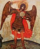 Icona bizantino nel monastero di trasfigurazione, Iaroslavl, Russia Fotografia Stock