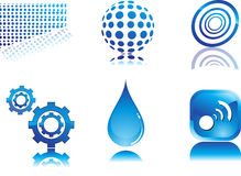 Icona blu astratta Fotografia Stock Libera da Diritti