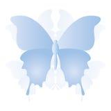 Icona blu astratta della farfalla di vettore isolata Immagini Stock