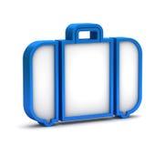 Icona blu del bagaglio Fotografie Stock
