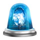 Icona blu del lampeggiatore Isolato su bianco Fotografie Stock Libere da Diritti