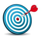 Icona blu dell'obiettivo Immagine Stock Libera da Diritti