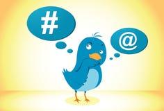 Icona blu dell'uccello Immagini Stock