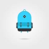 Icona blu dello zaino con ombra royalty illustrazione gratis