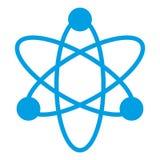 Icona blu di fisica su fondo bianco Vettore eps10 del segno di fisica Segno dell'elettrone royalty illustrazione gratis