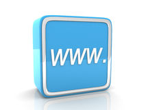 Icona blu di WWW Immagine Stock