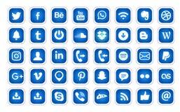 Icona blu isolata semplice di logo di YouTube fotografie stock libere da diritti