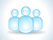 Icona blu lucida astratta degli utenti Fotografie Stock