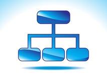 Icona blu lucida astratta del sitemap Immagini Stock