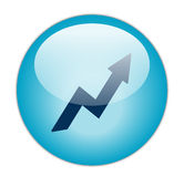 Icona blu vetrosa di profitto Immagini Stock