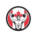 Icona canadese della bandiera del Canada di idoneità fisica illustrazione di stock