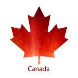 Icona canadese della foglia di acero di vettore royalty illustrazione gratis