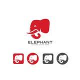 Icona capa dell'elefante e vettore di logo Fotografia Stock Libera da Diritti
