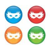 icona carnaval semplice della maschera Illustrazione piana EPS10 Icona di colore Immagini Stock