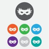 icona carnaval semplice della maschera Illustrazione piana EPS10 Icona di colore Fotografia Stock Libera da Diritti