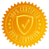 Icona certificata Fotografia Stock Libera da Diritti