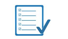 Icona certificata, segno, illustrazione Fotografie Stock