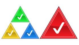 Icona certificata, segno, illustrazione Immagini Stock Libere da Diritti