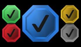 Icona certificata, segno, illustrazione Fotografia Stock Libera da Diritti
