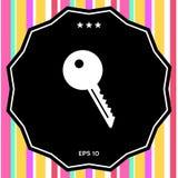 Icona chiave di simbolo Immagini Stock