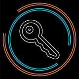 Icona chiave di vettore illustrazione vettoriale