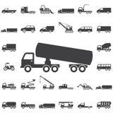 Icona chimica del camion illustrazione di stock