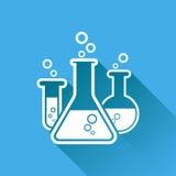 Icona chimica del pittogramma della provetta Vetreria per laboratorio o beake Immagine Stock Libera da Diritti