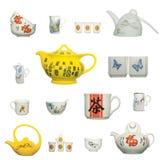 Icona cinese del prodotto della ceramica Fotografie Stock Libere da Diritti