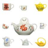 Icona cinese del prodotto della ceramica Immagini Stock