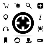Icona cinese della moneta insieme universale delle icone di web per il web ed il cellulare illustrazione di stock