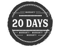 icona classica di progettazione della garanzia da 20 giorni retro illustrazione di stock