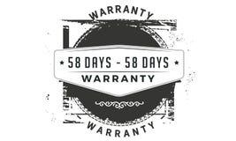 icona classica di progettazione della garanzia da 58 giorni retro royalty illustrazione gratis