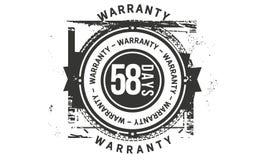 icona classica di progettazione della garanzia da 58 giorni retro illustrazione di stock