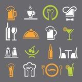 Icona color2 del ristorante Fotografia Stock Libera da Diritti