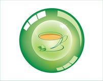 Icona colorata del bottone Fotografie Stock